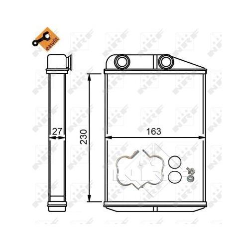 Radiator incalzire habitaclu Nrf 54309