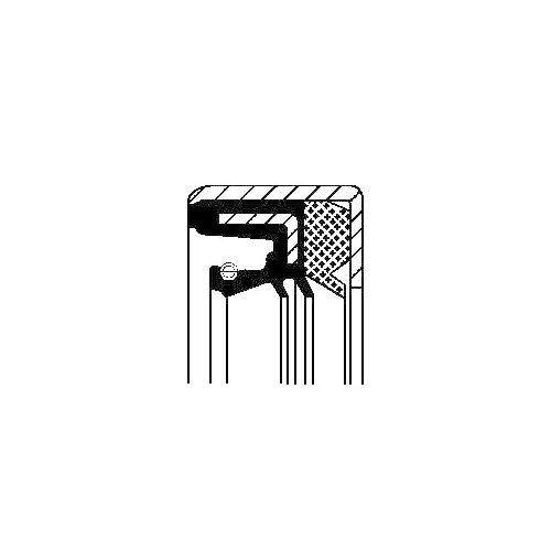 Simering cutie automata Corteco 01033861B, parte montare : dreapta