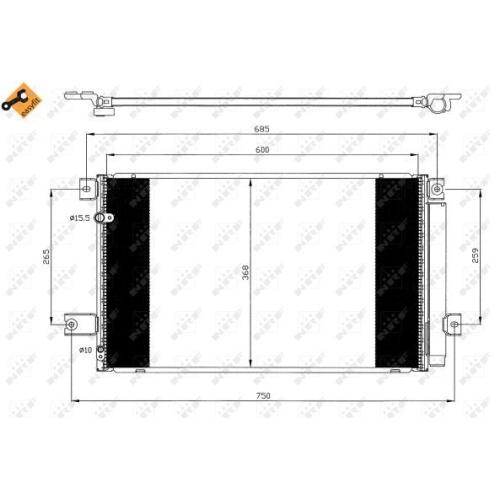 Condensator climatizare, Radiator clima Toyota Avensis (T25), Corolla Verso (Zer, Zze12, R1) Nrf 35628