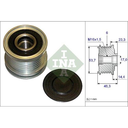 Fulie alternator Ina 535020410