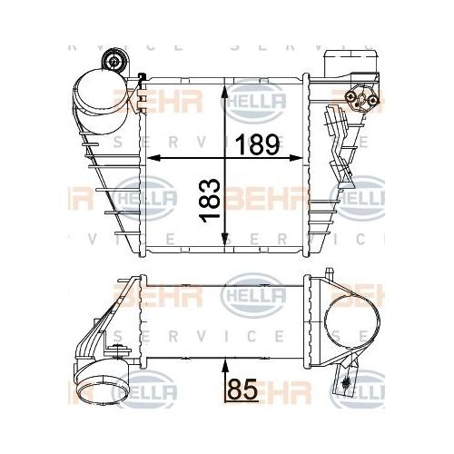 Radiator intercooler Hella 8ML376700704