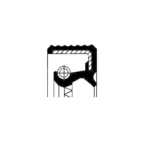 Simering diferential Corteco 07015496B, parte montare : stanga