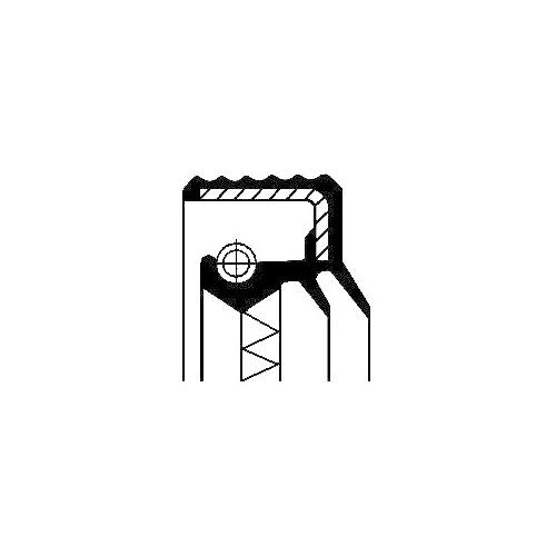 Simering diferential Corteco 12017270B, parte montare : punte spate