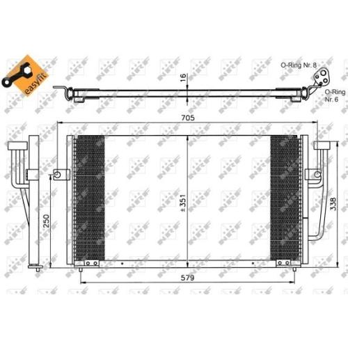 Condensator climatizare, Radiator clima Volvo S/V40 1 (Vs) Nrf 35234