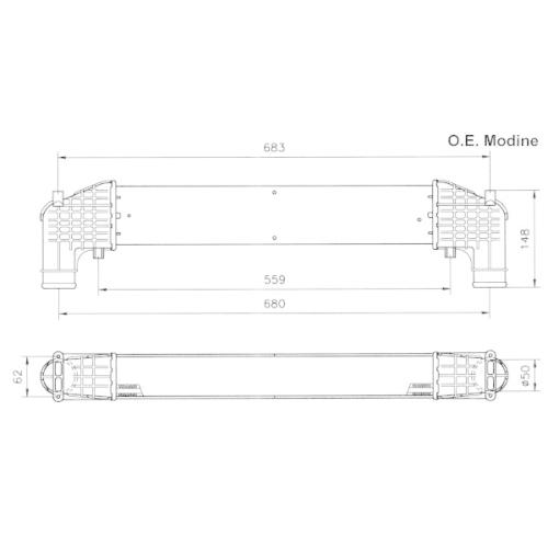 Radiator intercooler Nrf 30108