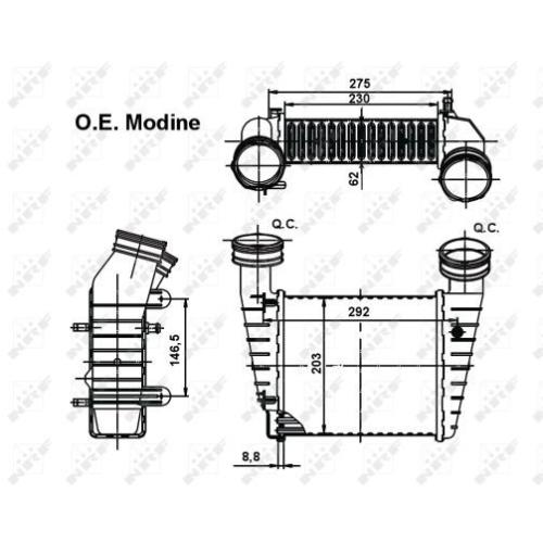 Radiator intercooler Nrf 30138