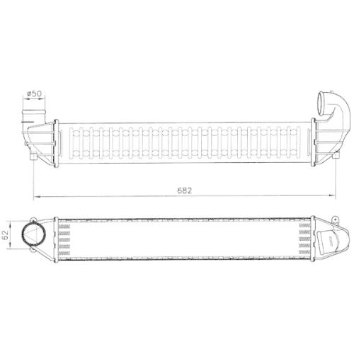 Radiator intercooler Nrf 30139