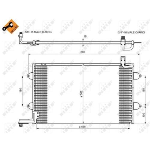 Condensator climatizare, Radiator clima Vw Golf 3 (1h1), Vento (1h2) Nrf 35584