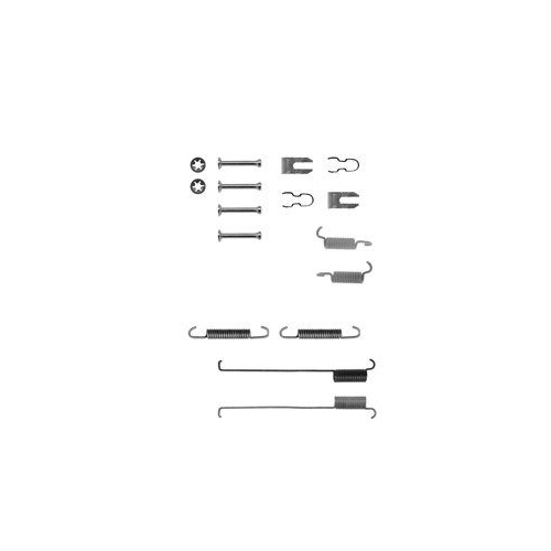 Set accesorii reparatie saboti frana Delphi LY1214, parte montare : Punte Spate