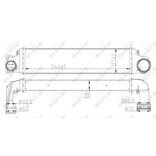 Radiator intercooler Nrf 30154A