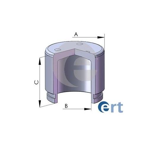 Piston etrier frana Ert 150273C, parte montare : Punte Fata