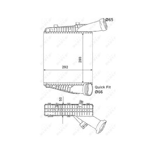 Radiator intercooler Nrf 30178