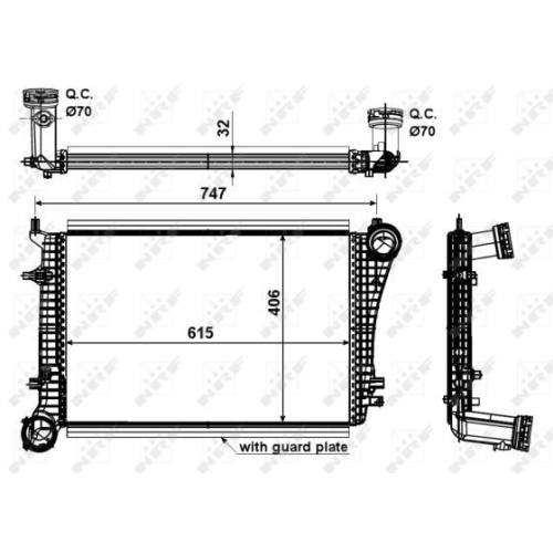 Radiator intercooler Nrf 30199