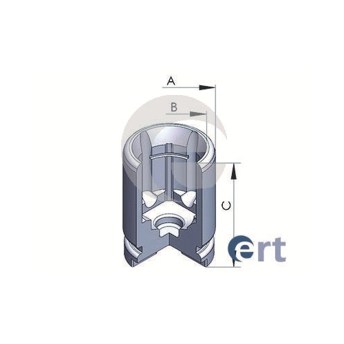 Piston etrier frana Ert 150757C, parte montare : Punte Spate