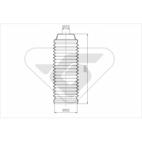 Set burduf protectie amortizor Hutchinson KP101, parte montare : Punte fata, Stanga/ Dreapta