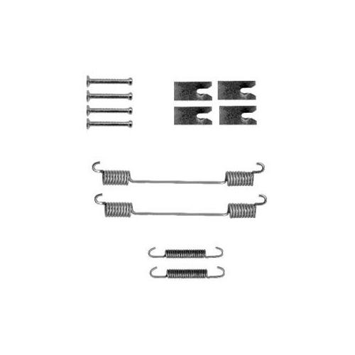 Set accesorii reparatie saboti frana Delphi LY1327, parte montare : Punte Spate