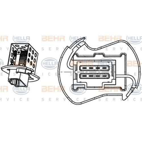 Rezistenta ventilator habitaclu Hella 9ML351332251