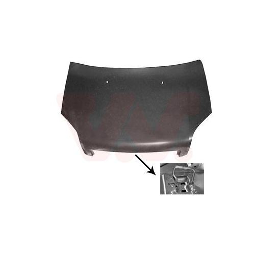 Capota motor Ford Fusion (Ju) Van Wezel 1810660, parte montare : fata
