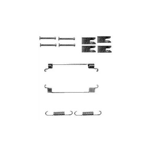 Set accesorii reparatie saboti frana Delphi LY1342, parte montare : Punte Spate
