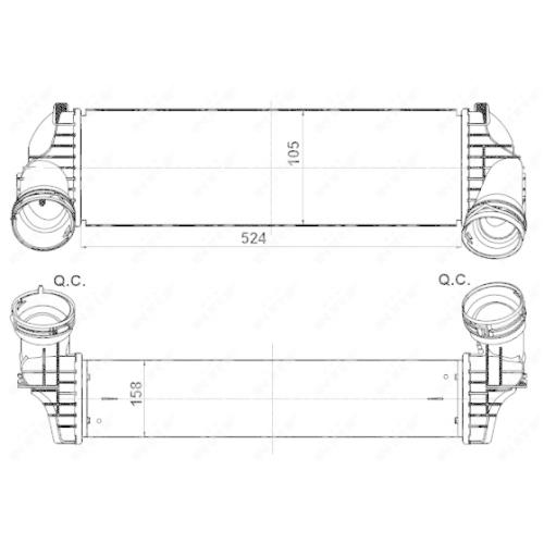 Radiator intercooler Nrf 30359
