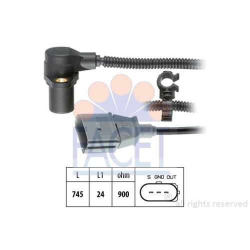 Senzor turatie, Senzor pozitie arbore cotit Facet 90267