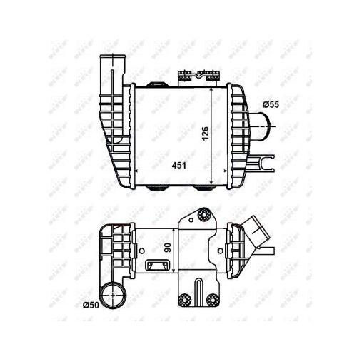 Radiator intercooler Nrf 30371