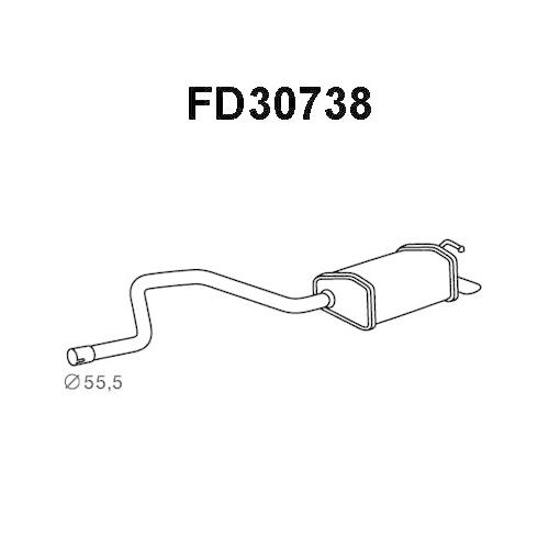 Toba esapament finala Ford Mondeo 3 (B5y), Veneporte FD30738