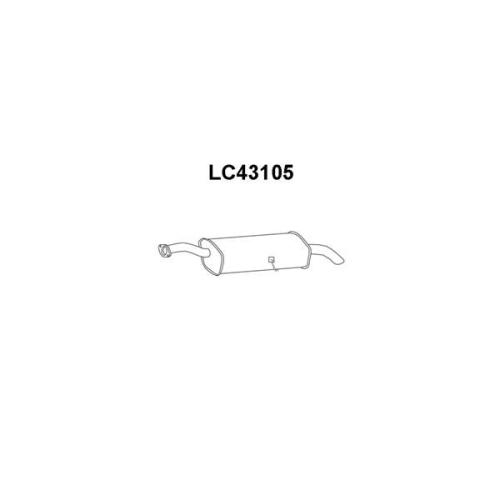 Toba esapament finala Lancia Kappa (838a), Kappa Cupe (838), Kappa Sw (838b), Veneporte LC43105