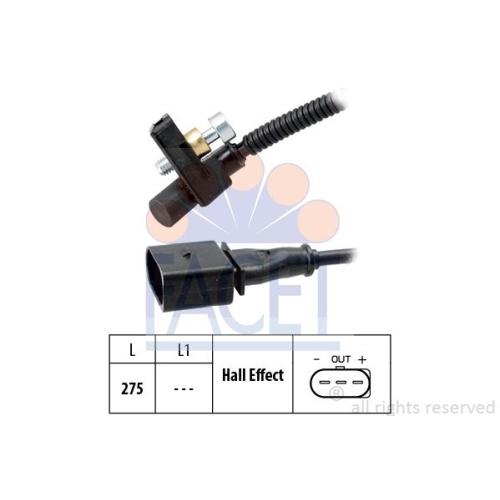 Senzor turatie, Senzor pozitie arbore cotit Facet 90448