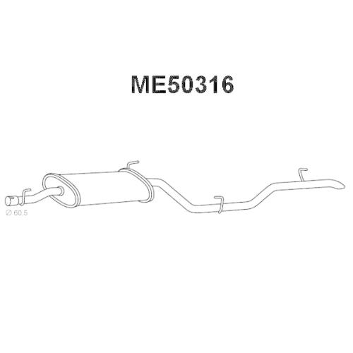 Toba esapament finala Mercedes V-Class (638/2), Vito (638), Veneporte ME50316