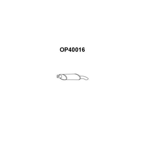Toba esapament finala Opel Astra F Hatchback (53 , 54 , 58 , 59), Veneporte OP40016