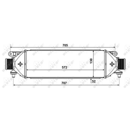 Radiator intercooler Nrf 30752