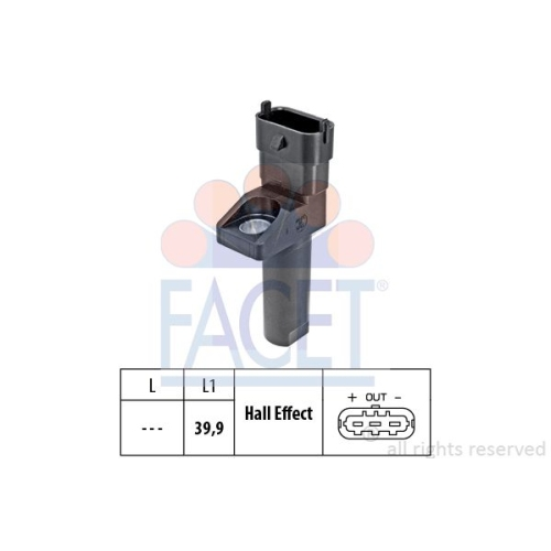 Senzor turatie, Senzor pozitie arbore cotit Facet 90654