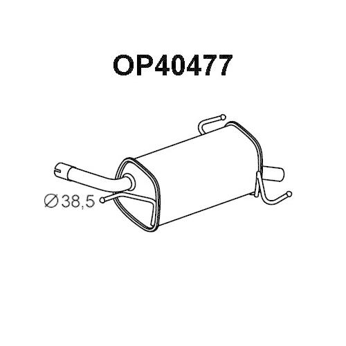 Toba esapament finala Opel Corsa C (F08, F68), Veneporte OP40477