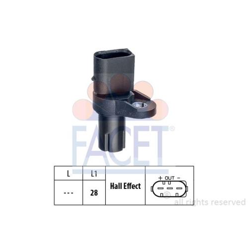 Senzor turatie, Senzor pozitie arbore cotit Facet 90473