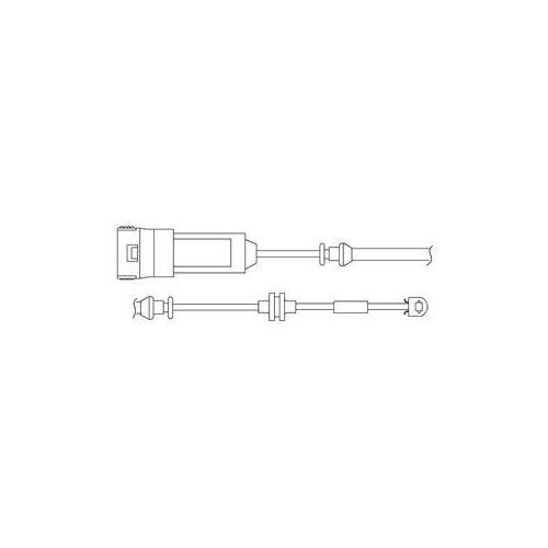 Senzor uzura placute frana Delphi LZ0166, parte montare : Punte Fata
