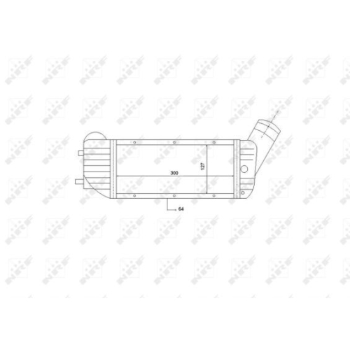 Radiator intercooler Nrf 30894