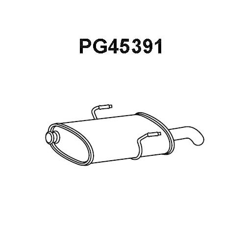 Toba esapament finala Peugeot 406 (8b), Veneporte PG45391
