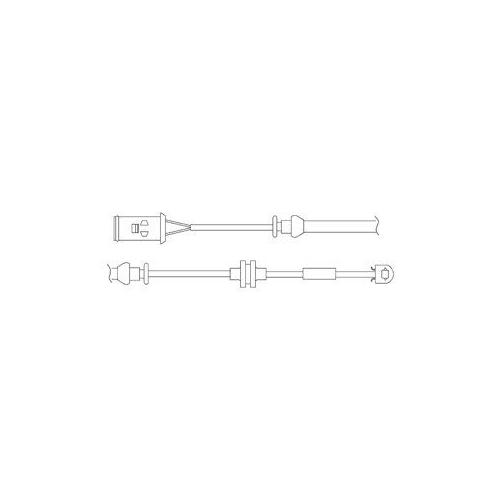 Senzor uzura placute frana Delphi LZ0176, parte montare : Punte Fata