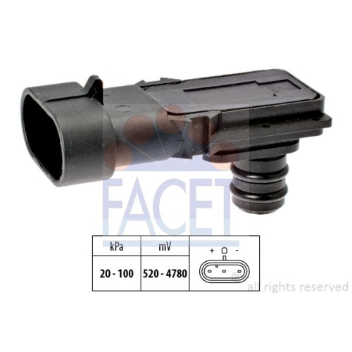 Senzor presiune aer galerie admisie Facet 103023