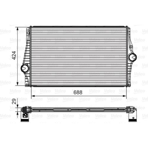 Radiator intercooler Valeo 818280