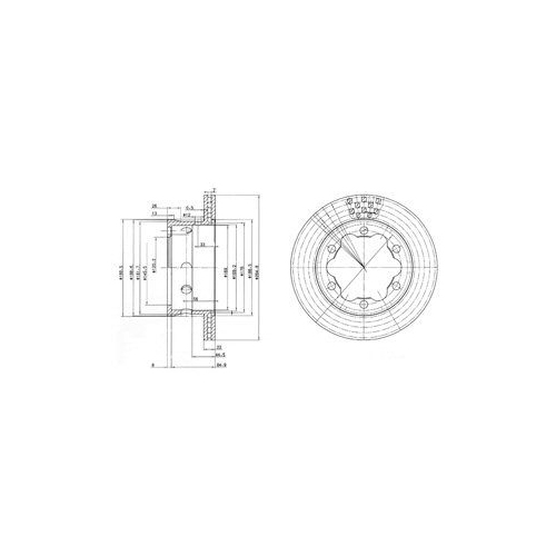 Disc frana Delphi BG3399, parte montare : Punte Spate