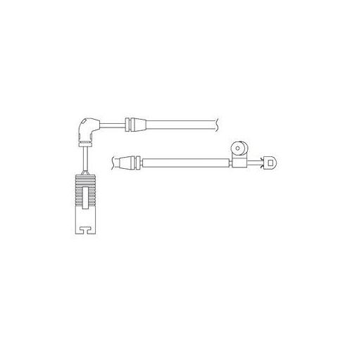Senzor uzura placute frana Delphi LZ0180, parte montare : Punte Fata