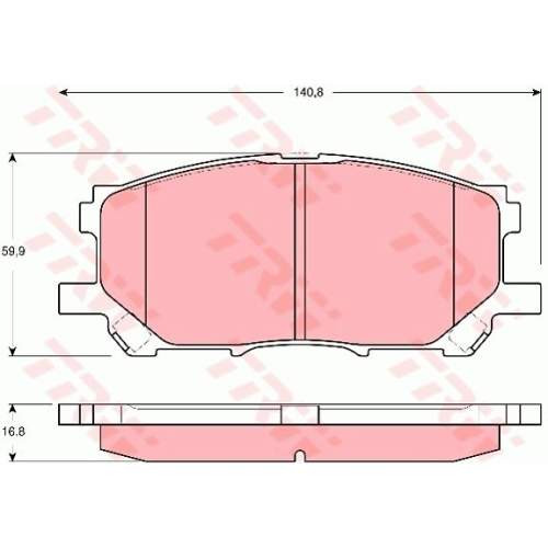 Set placute frana Trw GDB3338, parte montare : Punte fata