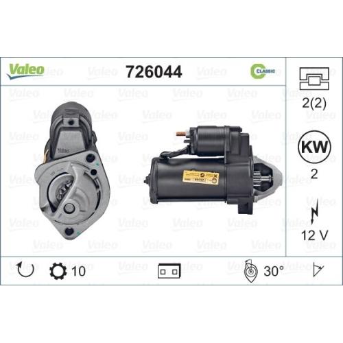 Electromotor Valeo 726044