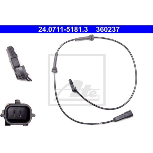 Senzor ABS Ate 24071151813, parte montare : punte spate