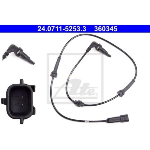 Senzor ABS Ate 24071152533, parte montare : punte spate