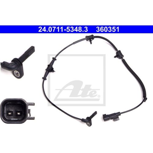 Senzor ABS Ate 24071153483, parte montare : punte fata