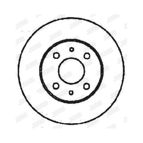 Disc frana Jurid 561329JC, parte montare : punte spate
