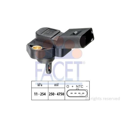 Senzor presiune aer galerie admisie Facet 103012